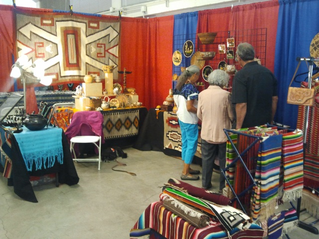 The Pocas Cosas booth at the Indian Arts Show, Pleasanton, CA, 2013
